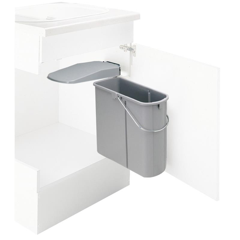 wesco einbau abfallsammler grau edelstahl schwarz 19 l. Black Bedroom Furniture Sets. Home Design Ideas