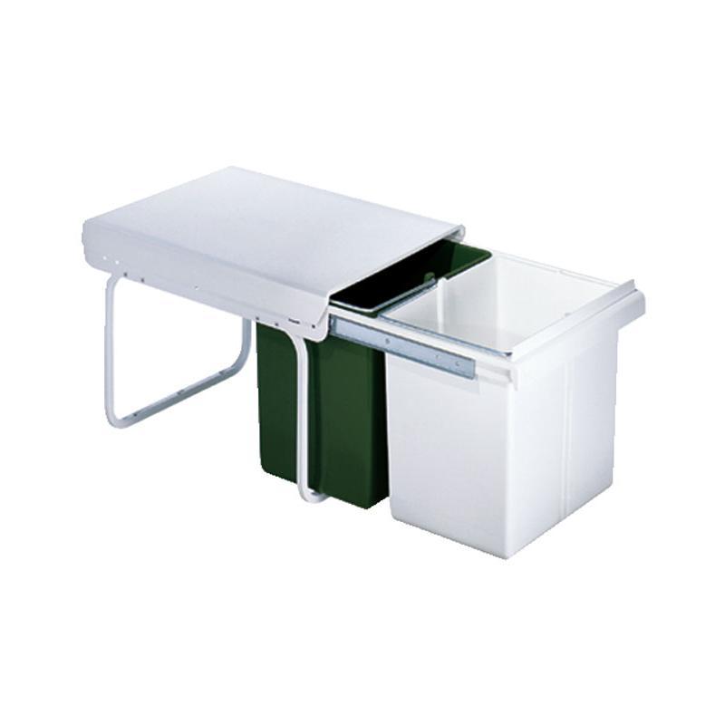 einbau abfallsammler master boy gr n wei 30l 2 x 15l ab. Black Bedroom Furniture Sets. Home Design Ideas