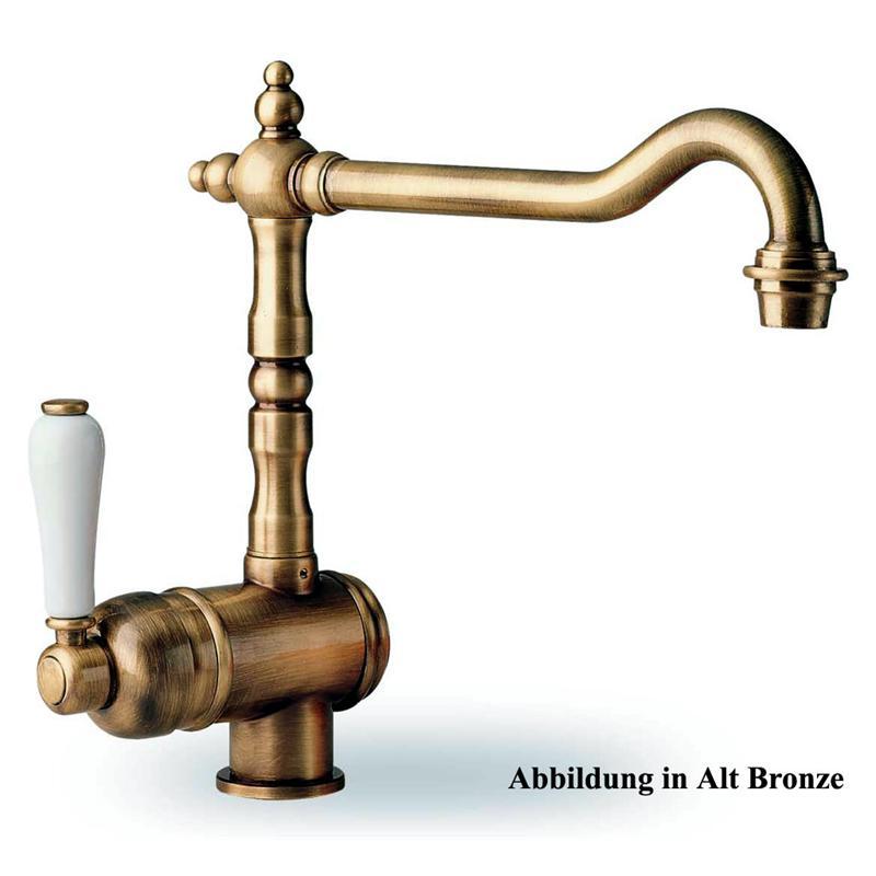 Charmant Rustikaler Einhebelmischer ALT Bronze Spültisch Armatur Wasserhahn .