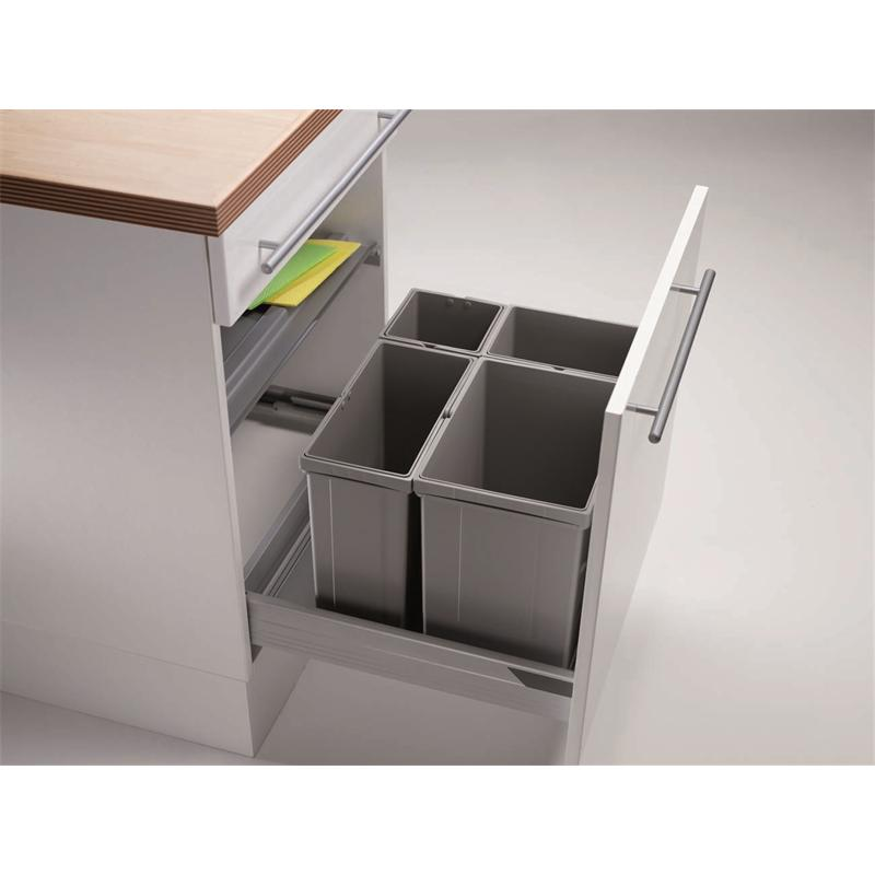 abfallsammler pullboy vario ab 60er schrank 41 l h 320 mm wesco tablar m lleimer komplettdeckel. Black Bedroom Furniture Sets. Home Design Ideas
