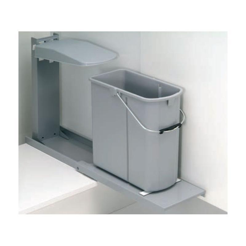 Einbau Abfallsammler 19 L GRAU mit Auszug Wesco ohne