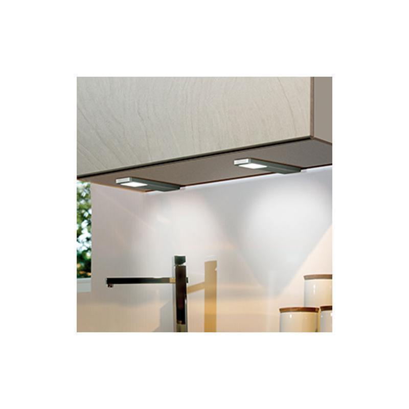 led anbauleuchte ld 8002 hv edelstahl kaltwei hochvolt unterbauleuchte fl chenleuchte l 205 mm. Black Bedroom Furniture Sets. Home Design Ideas