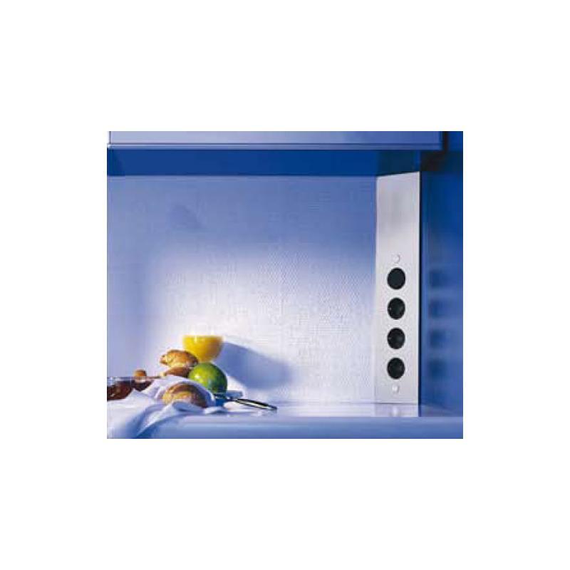 4 fach steckdose typ st 3007 edelstahl 230 v ecksteckdose schukostecker 460 580 mm thebo. Black Bedroom Furniture Sets. Home Design Ideas