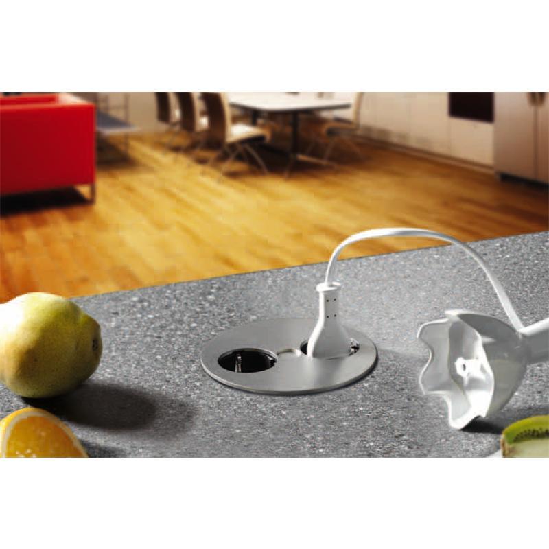 twist 2er einbausteckdose edelstahloptik. Black Bedroom Furniture Sets. Home Design Ideas