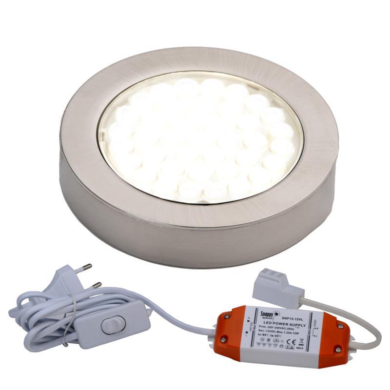 LED Aufbau Einbauleuchte Unterbauleuchte 1 5er Set Küche