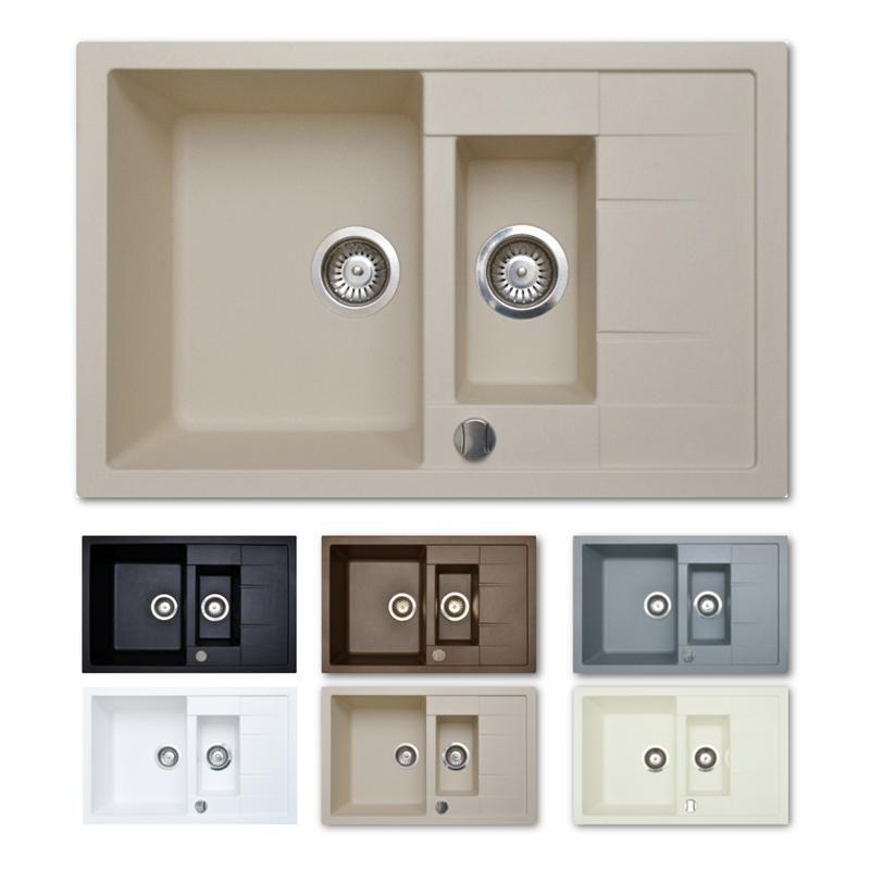granitsp le 60er sp lbecken k chensp le 78cm drehexcenter. Black Bedroom Furniture Sets. Home Design Ideas