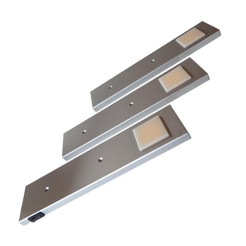 3er set led unterbauleuchte diabolo inkl konverter ein strahler mit schalter. Black Bedroom Furniture Sets. Home Design Ideas