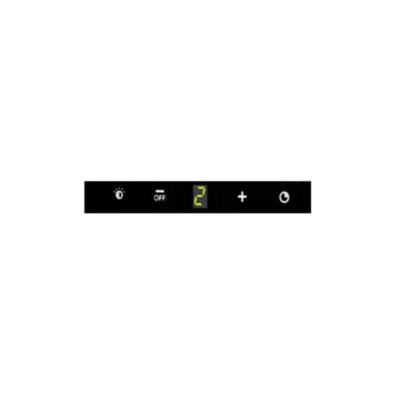 Kopffreie Wandhaube 90 Cm Edelstahl / Schwarzglas Dunstabzug Touch Control  Mit ABDECKUNG Abluft