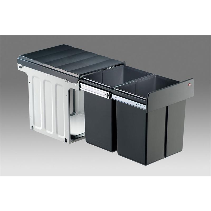 profiline einbau abfallsammler double master maxi 40dt vollauszug ab 40 cm m lleimer 40 l wesco. Black Bedroom Furniture Sets. Home Design Ideas