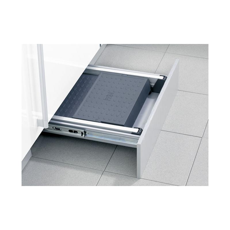 einbauklapptritt stepfix aluminium hailo ab 50 cm schublade kunststoffstufen 2 stufen trittleiter. Black Bedroom Furniture Sets. Home Design Ideas