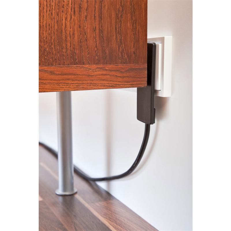 schulte flachstecker plug in wei 1 5 m bewegliches steckergesicht 3 fach tischsteckdose. Black Bedroom Furniture Sets. Home Design Ideas