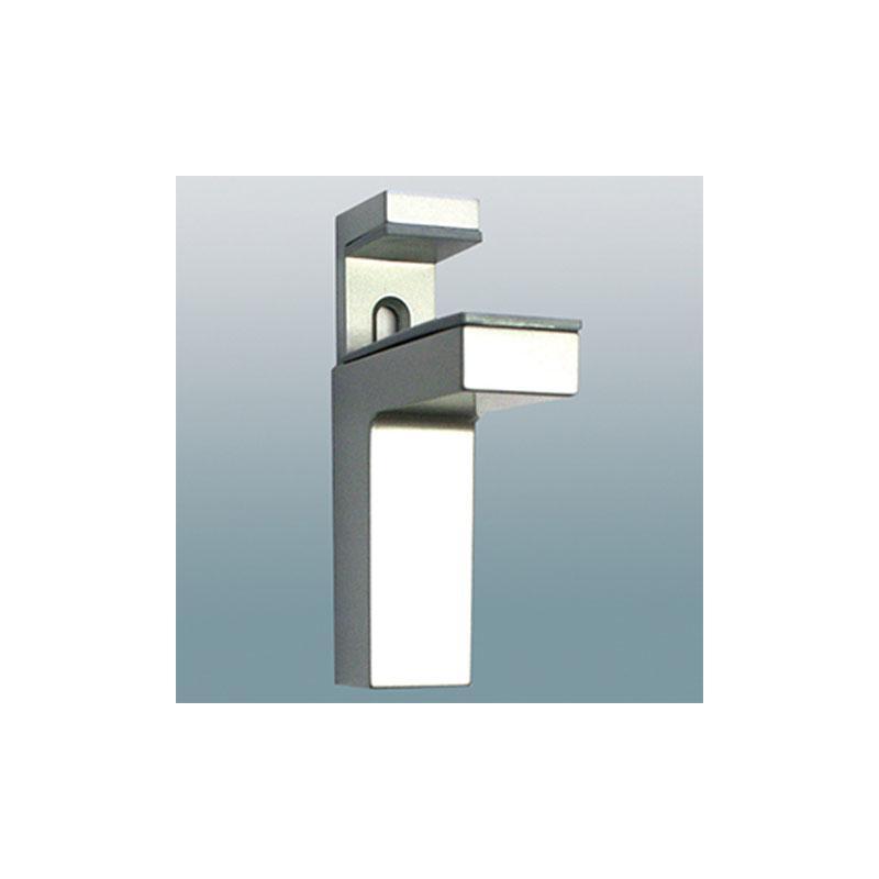 glas und regaltr ger edelstahl optik f r tablare von 8. Black Bedroom Furniture Sets. Home Design Ideas