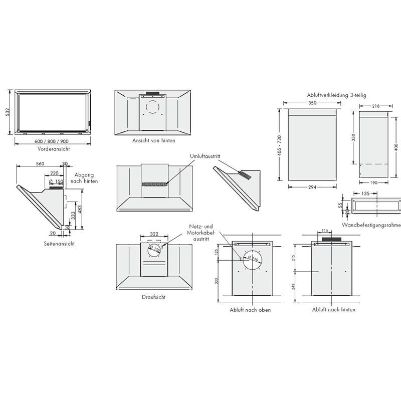 homeier dunstabzugshaube wandhaube 60cm abluft wsg60 edelstahl wandhaube kopffrei wandabzug. Black Bedroom Furniture Sets. Home Design Ideas
