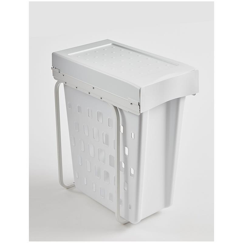 WESCO Laundry Boy Basket 40 Liter weiß Wäschekorb mit oder ohne Deckel zum Ausziehen