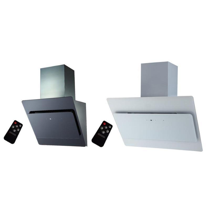 dunstabzugshaube kopffreihaube luna 60 90 cm edelstahl schwarzglas wei glas teleskopschacht. Black Bedroom Furniture Sets. Home Design Ideas