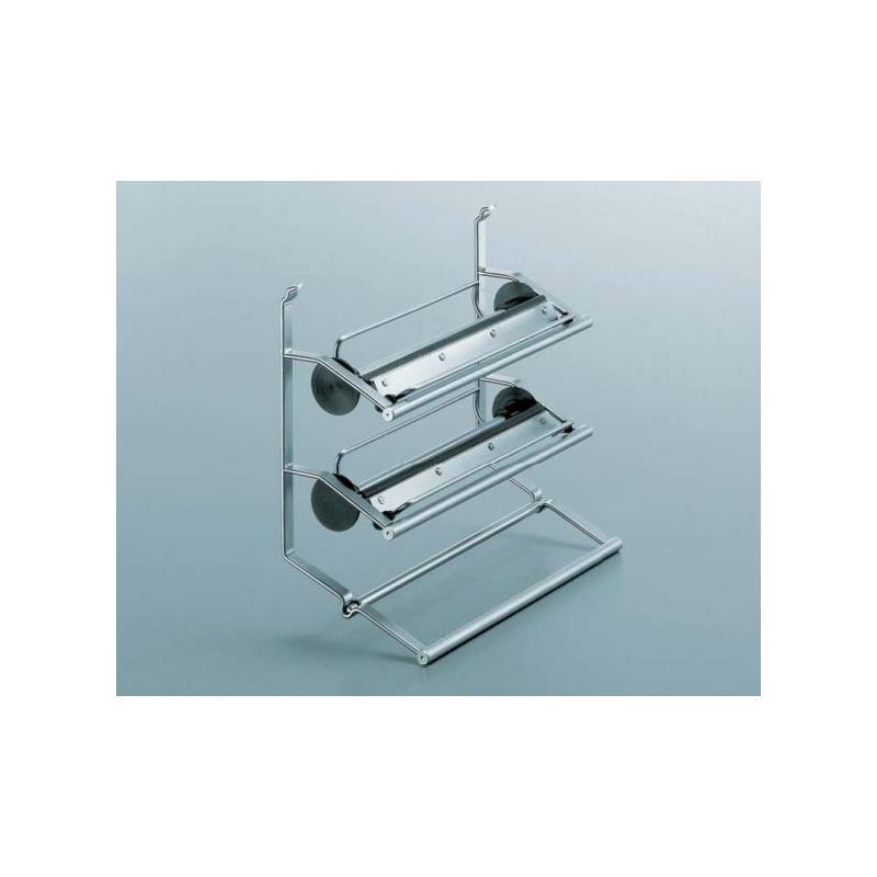 rollenhalter 3 etagig f r relingsystem linero 2000 edelstahl optik abrisskante k chenreling halter. Black Bedroom Furniture Sets. Home Design Ideas
