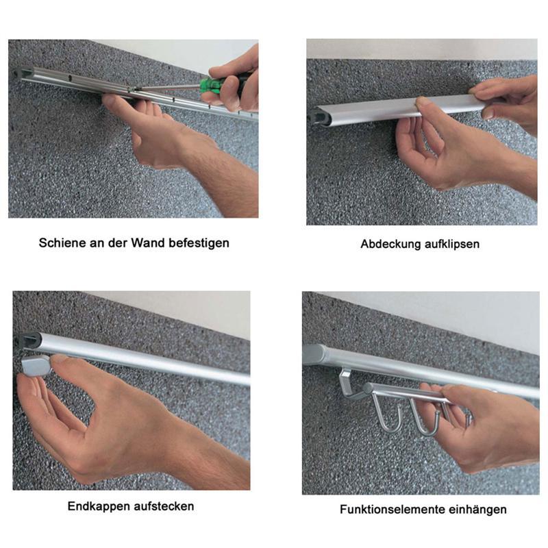 LINERO 2000 Rollenhalter edelstahlfarbig 3-etagig für Relingsystem Küchenrolle