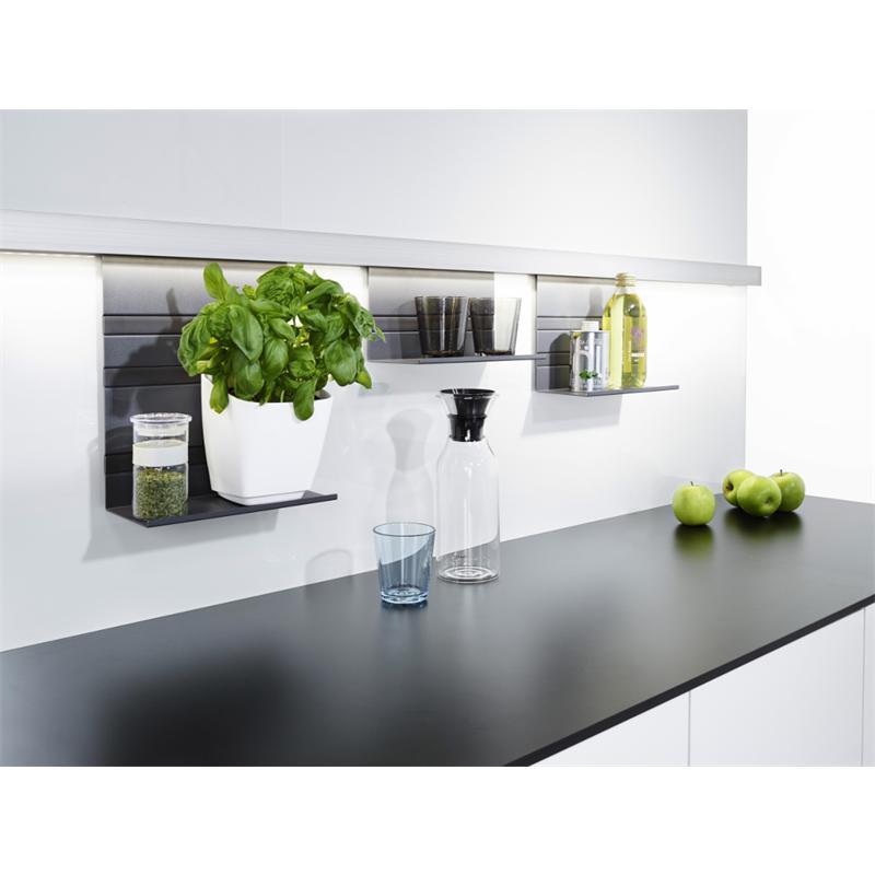 Küchenreling Mit Zubehör : kesseb hmer linero mosaiq titangrau relingsystem k chenreling ~ Michelbontemps.com Haus und Dekorationen