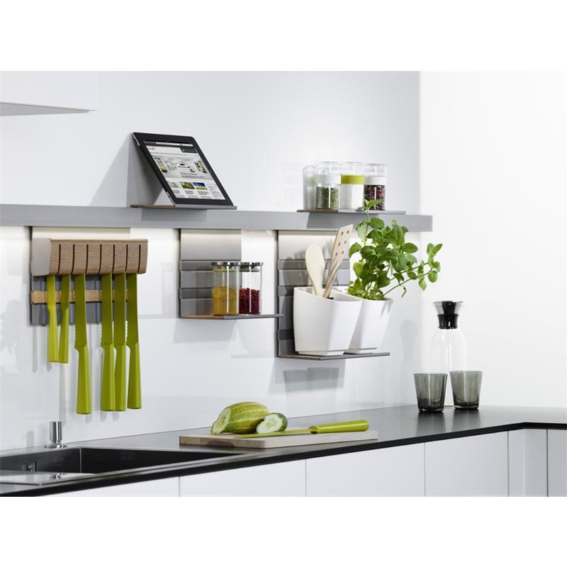 Kesseböhmer LINERO MosaiQ TITANGRAU Relingsystem Küchenreling