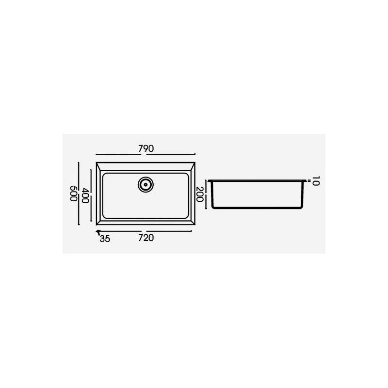 Granitspüle Einbauspüle Quadra 130 granit weiß Küchenspüle, Spüle ... | {Spülbecken granit weiß 83}