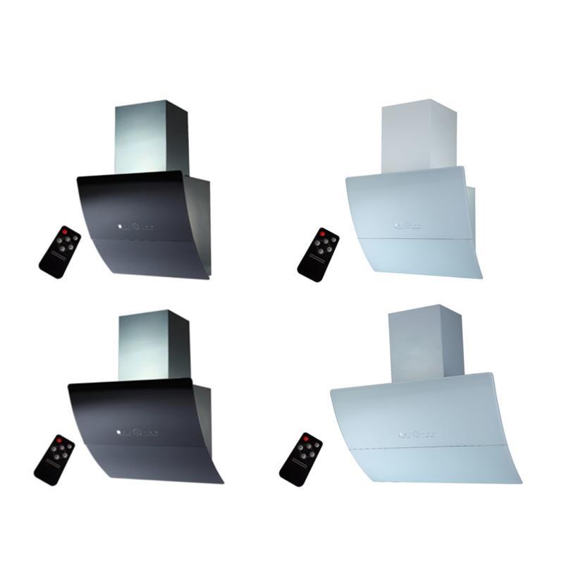 dunstabzugshaube kopffreihaube saturn 60 90 cm edelstahl schwarzglas wei glas teleskopschacht. Black Bedroom Furniture Sets. Home Design Ideas