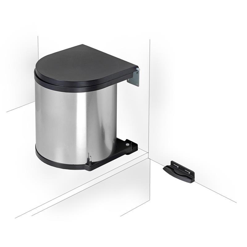 wesco einbau abfallsammler 11 liter rund edelstahl m lleimer schwenkeimer ab 40er schrank. Black Bedroom Furniture Sets. Home Design Ideas