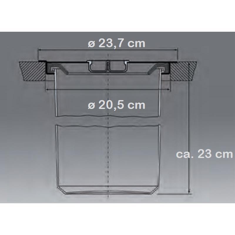 Einbau abfallsammler ergo master 5 l aluminium edelstahl for Arbeitsplatte unterbau