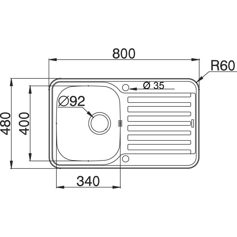 einbausp le 45 cm unterschrank edelstahl becken berlauf k che einbau sp le ebay. Black Bedroom Furniture Sets. Home Design Ideas