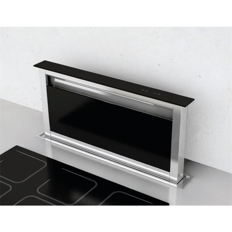 tischabzug lift 60 cm edelstahl schwarzglas umluft touch control timer tischhaube arbeitsplatte. Black Bedroom Furniture Sets. Home Design Ideas