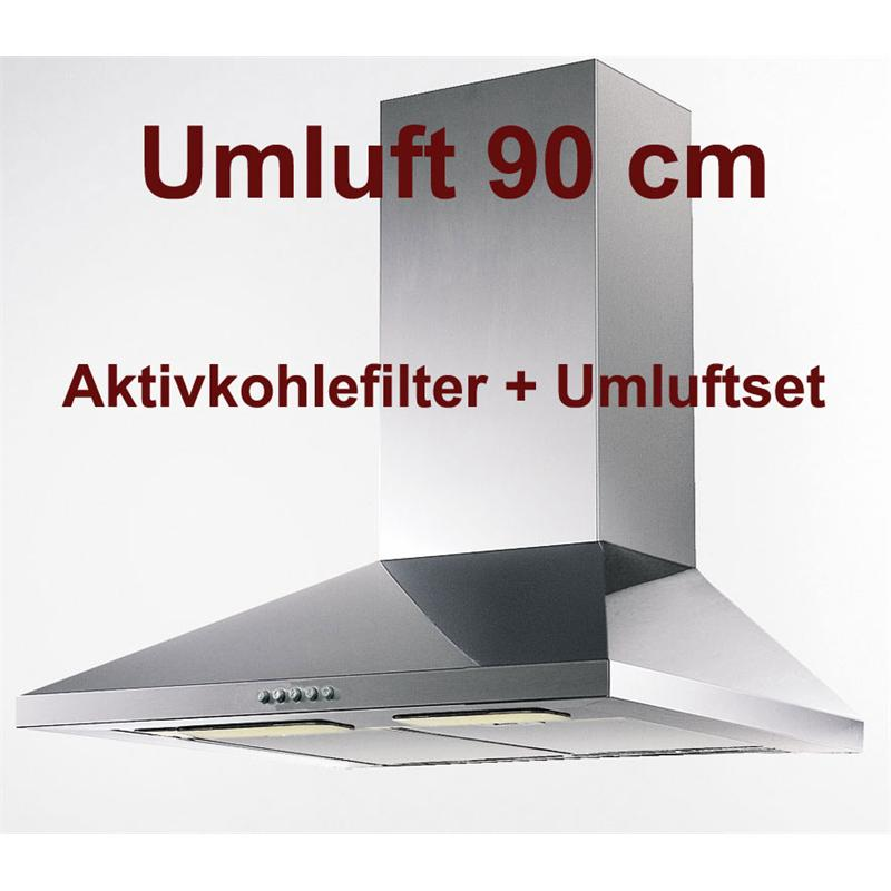 umluft set wandhaube orkan 90 cm breite edelstahl. Black Bedroom Furniture Sets. Home Design Ideas