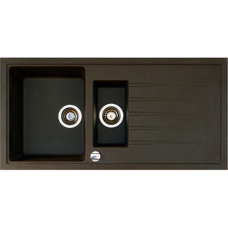 victory granitsp le einbausp le k chensp le sp lbecken 60er braun drehexcenter ebay. Black Bedroom Furniture Sets. Home Design Ideas