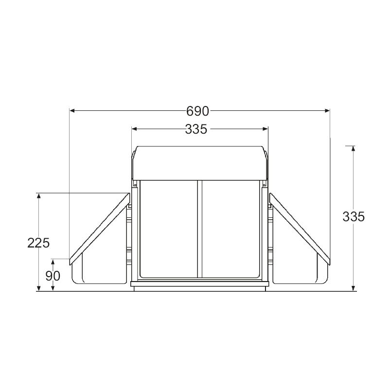wesco einbau abfallsammler corner boy double 32 l m lleimer k che vollauszug. Black Bedroom Furniture Sets. Home Design Ideas
