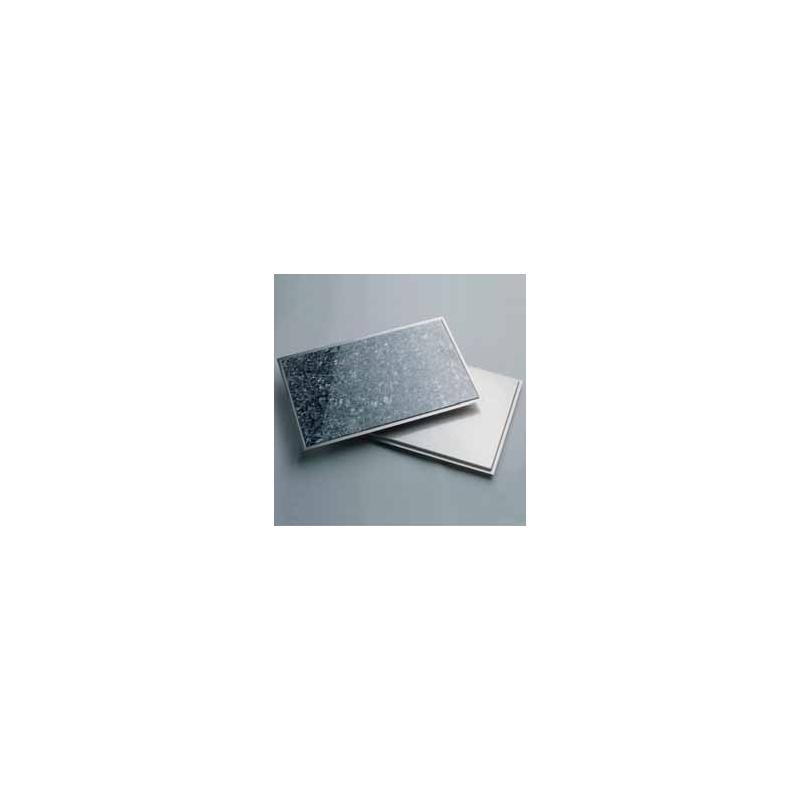 granitfeld mit edelstahlrahmen einbau granitplatte 250 x 250 mm granit galaxy star arbeitsplatte. Black Bedroom Furniture Sets. Home Design Ideas