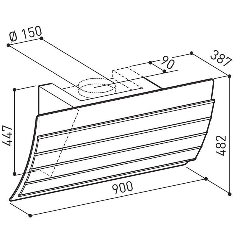 umluft abzugshaube kopffreihaube mars 60 90 cm abzugshaube. Black Bedroom Furniture Sets. Home Design Ideas