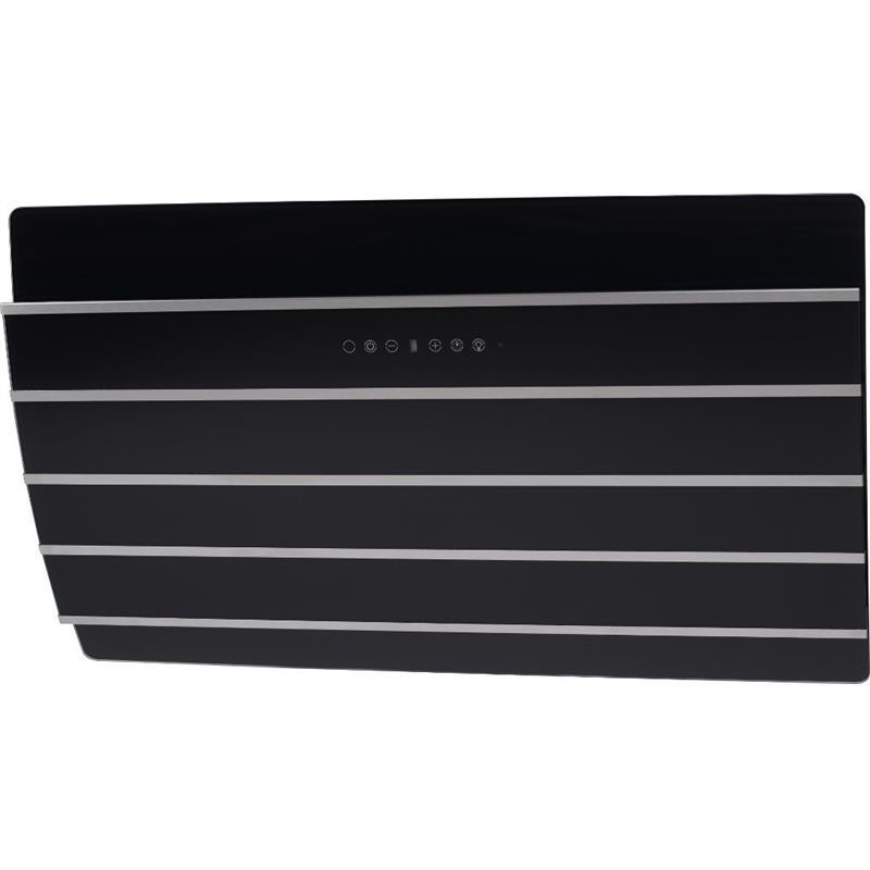 umluft abzugshaube kopffreihaube mars 60 90 cm abzugshaube edelstahl schwarzglas ebay. Black Bedroom Furniture Sets. Home Design Ideas