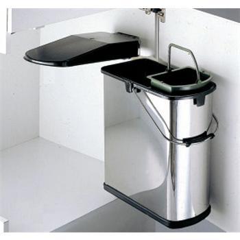 einbau abfallsammler 19 l edelstahl schwarz wesco 5 l bioeinsatz ab 45 cm schrank dreht r m lleimer. Black Bedroom Furniture Sets. Home Design Ideas