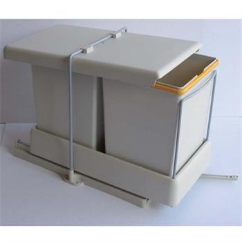 auszug einbauabfallsammler 2 x 11 l m lleimer ab 40 cm breite auszugsautomatic wesco 22 l. Black Bedroom Furniture Sets. Home Design Ideas