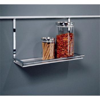 universalablage f r relingsystem linero 2000 edelstahl optik k chenutensilien ablage k che. Black Bedroom Furniture Sets. Home Design Ideas