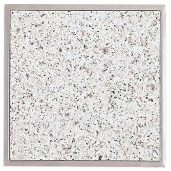 Einbau Granitfeld Arbeitsplatte 510x325 mm mit Edelstahlwanne Bianco Cristall