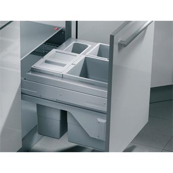 einbau abfallsammler cargo soft 30 l vollauszug 3 fach biodeckel 45 cm schrank hailo m lleimer. Black Bedroom Furniture Sets. Home Design Ideas