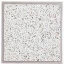 Granitfeld mit Edelstahlrahmen Einbau Granitplatte  250 x 250 mm Granit Bianco Cristall Arbeitsplatte