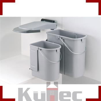 wesco kontainer junior einbau m lleimer 19 l u 10 l grau k che ebay. Black Bedroom Furniture Sets. Home Design Ideas