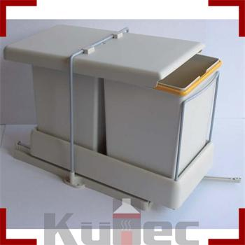 auszug einbau abfallsammler wesco 22 l automatisch m lleimer ab 30 cm schrank ebay. Black Bedroom Furniture Sets. Home Design Ideas