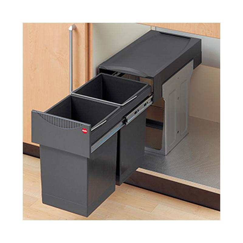 Einbau Abfallsammler Tandem 2-fach Trennung ab 30 cm