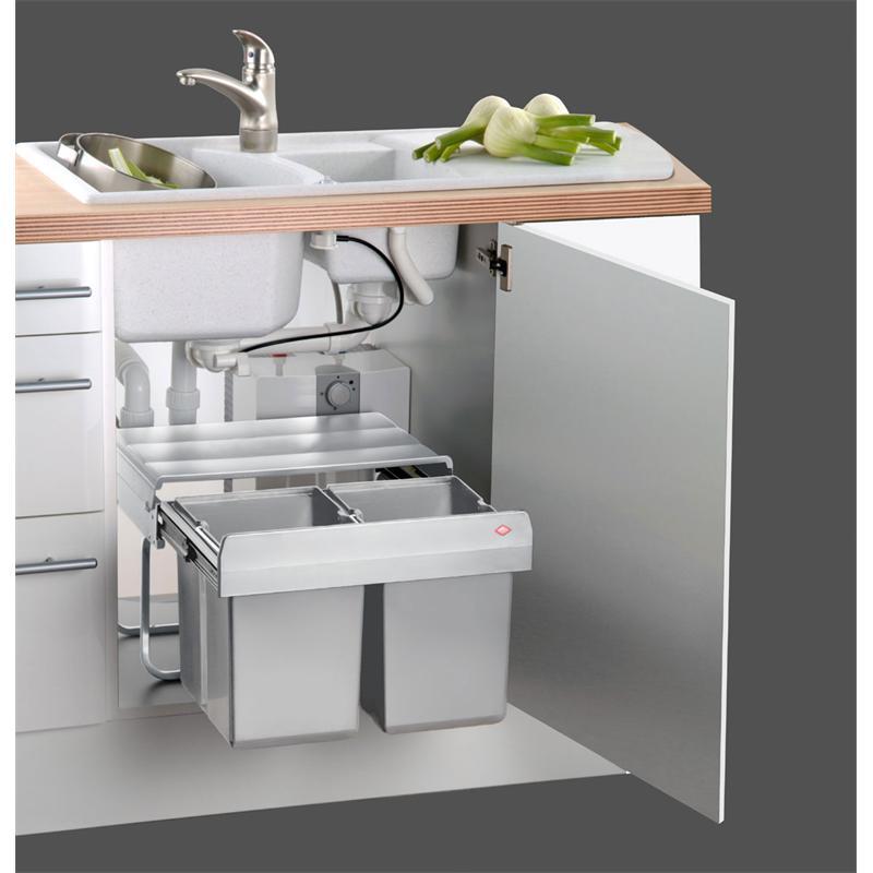 wesco einbau abfallsammler trio shorty 15 l 2 x 7 5 l k che m lleimer ebay. Black Bedroom Furniture Sets. Home Design Ideas