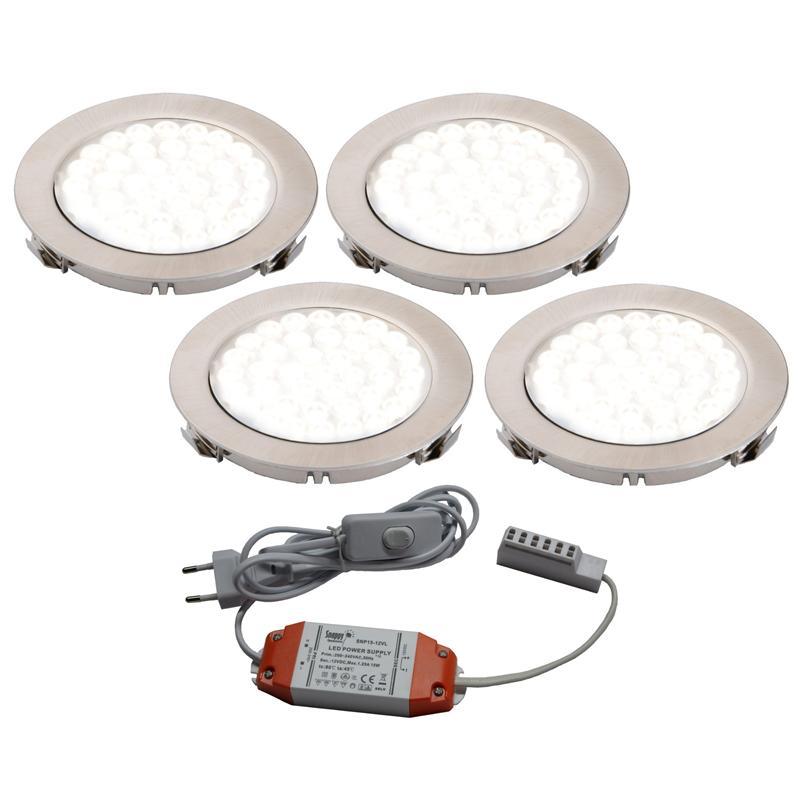 LED Aufbau-/Einbauleuchte Unterbauleuchte 1-5er Set Küche Strahler ...