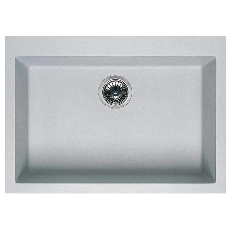 Top elleci Granitspüle Einbauspüle Quadra 110 granit grau Küchenspüle UD61